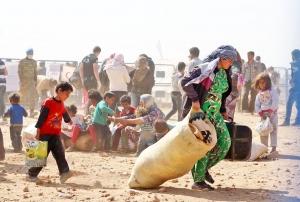 Türkiye'ye sığınamayan Suriyeli mülteciler