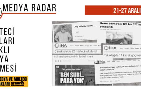 Medya Radar 3. Hafta: Mülteci Haklarına Dair Çalışmalar Gündem Olamadı
